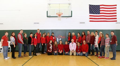 "Harbor Country Day School Faculty & Staff ""Go Red for Women"""