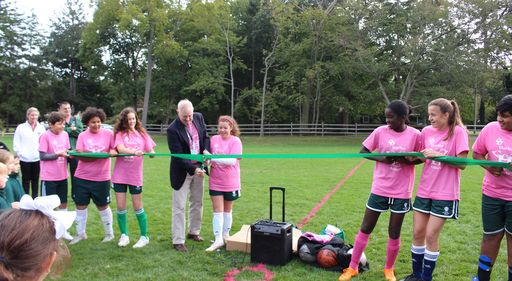 Harbor Country Day School Dedicates New Athletic Field to Founder of School